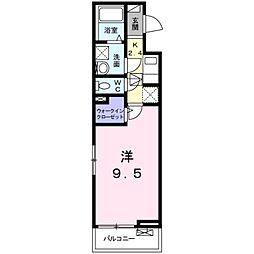 JR飯田線 船町駅 徒歩16分の賃貸アパート 3階1Kの間取り