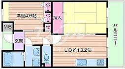 アルビス五月ヶ丘 119号棟[1階]の間取り