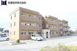 愛知県豊橋市牟呂町字松東の賃貸マンションの外観
