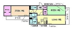 仮称)D-room中桜塚1丁目A棟[1階]の間取り