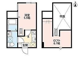 Rumah K.L.2(ルマケーエルツー)[2階]の間取り