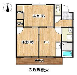 コーポ飯田B棟[102号室]の間取り