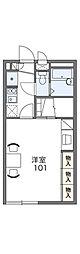 レオパレスマロンハイツ2[1階]の間取り