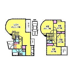 [一戸建] 神奈川県横浜市港北区師岡町 の賃貸【/】の間取り
