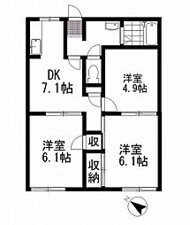 MAST Maison(メゾン)本宿[102号室]の間取り