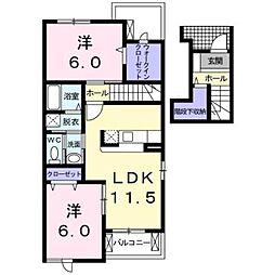 ブルックサイドビレッジ I[2階]の間取り