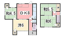 [一戸建] 兵庫県姫路市東辻井2丁目 の賃貸【兵庫県 / 姫路市】の間取り