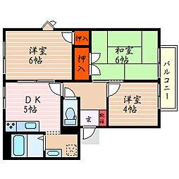 滋賀県彦根市芹川町の賃貸アパートの間取り