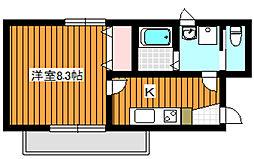 東京メトロ有楽町線 平和台駅 徒歩5分の賃貸マンション 3階1Kの間取り