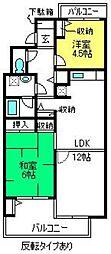 カピス大宮[2階]の間取り