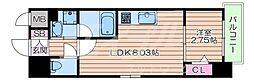 Osaka Metro御堂筋線 江坂駅 徒歩6分の賃貸マンション 4階1LDKの間取り