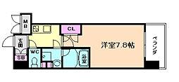 プール・トゥジュール梅田ウエスト[10階]の間取り