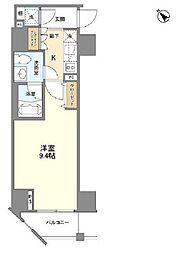 カーサスプレンディッド麻布仙台坂 7階1Kの間取り