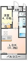 東武越生線 東毛呂駅 徒歩8分の賃貸マンション 1階1LDKの間取り