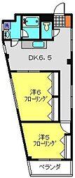 ラ・メール片倉[202号室]の間取り