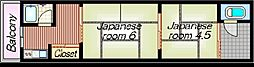[タウンハウス] 大阪府大阪市平野区加美東1丁目 の賃貸【大阪府 / 大阪市平野区】の間取り