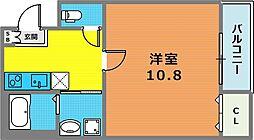 兵庫県神戸市中央区南本町通4丁目の賃貸アパートの間取り
