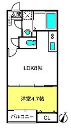 T.Aさいたま市中央区上峰2丁目 2階1LDKの間取り