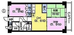 センチュリー豊島園1[3階]の間取り