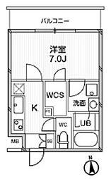 東京メトロ千代田線 湯島駅 徒歩5分の賃貸マンション 1階1Kの間取り