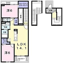 セレーノIII[3階]の間取り