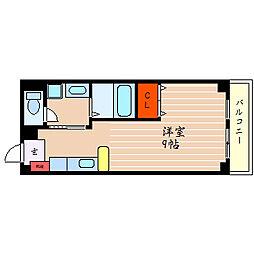滋賀県彦根市栄町2丁目の賃貸マンションの間取り