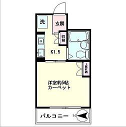 ピア新高円寺[202号室]の間取り