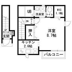 My House 2階1Kの間取り
