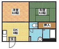 長崎県長崎市富士見町の賃貸アパートの間取り