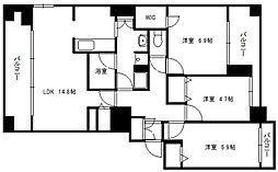 ドエル東札幌[304号室]の間取り