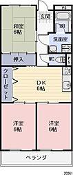 長野県長野市三本柳西2丁目の賃貸マンションの間取り