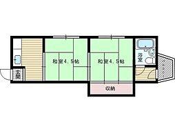 上山マンション[2階]の間取り
