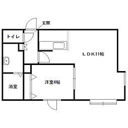 モントレ表参道[2階]の間取り