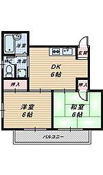 大阪府堺市堺区浅香山町2丁の賃貸マンションの間取り