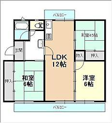 平川住宅 18[201号室]の間取り