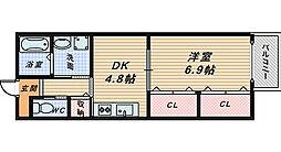 カーザデコスタ[1階]の間取り