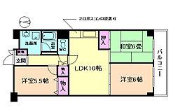 池田緑丘ハイツ[6階]の間取り