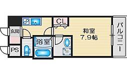 BPRレジデンス江坂 15階1Kの間取り