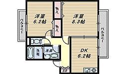 コンクオーレ香ヶ丘[1階]の間取り