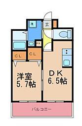 YSマンション壱番館[202号室]の間取り