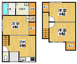 [一戸建] 北海道小樽市入船5丁目 の賃貸【/】の間取り