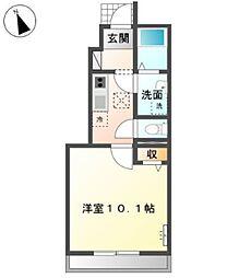 南初富1丁目新築アパート[1階]の間取り