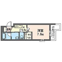 鶴見区生麦3丁目シャーメゾン (仮) 3階1Kの間取り