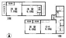 [タウンハウス] 岡山県総社市中原 の賃貸【/】の間取り
