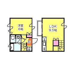 [テラスハウス] 神奈川県横浜市港北区日吉本町2丁目 の賃貸【神奈川県 / 横浜市港北区】の間取り
