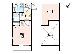 ボナール箱崎駅東[105号室]の間取り