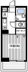 神奈川県横浜市保土ケ谷区西谷町の賃貸マンションの間取り