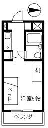 ビバハウスレディースマンション[2階]の間取り