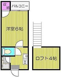 コンパートハウス和白[206号室]の間取り