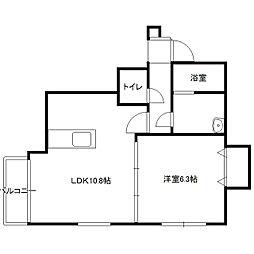 北海道札幌市中央区南五条西12の賃貸マンションの間取り